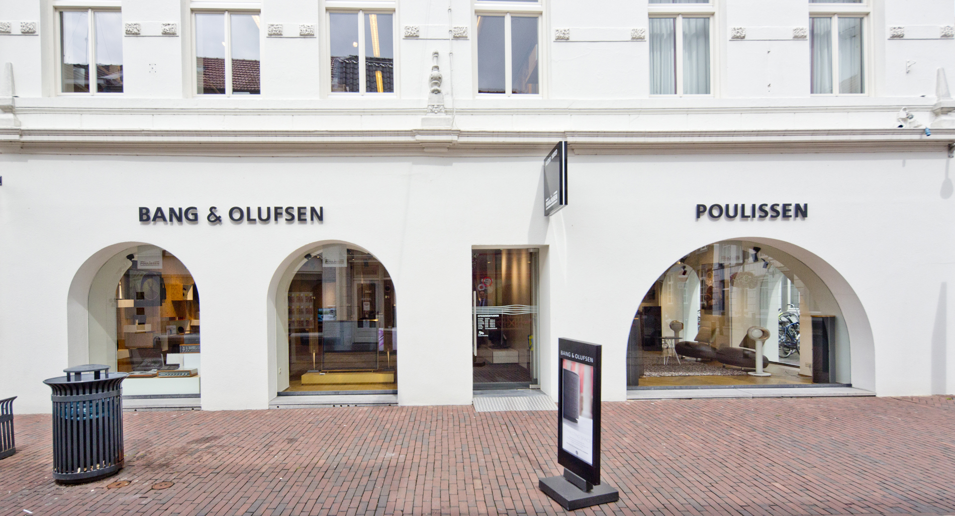 Hoofdingang Poulissen Audio Video Center Roermond