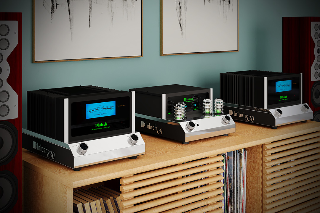 McIntosh MC830 and C8